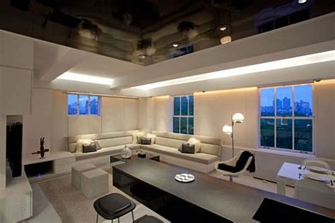 Contemporary Apartment With Led Mood Lighting