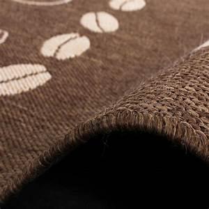 Teppich modern flachgewebe sisal optik kuchenteppich for Küchenteppich