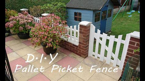 diy pallet picket fence youtube