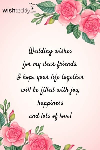 wedding wishes   dear friends