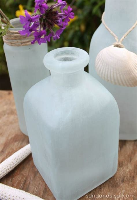 diy sea glass vases shes crafty candles vases