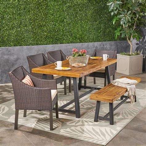 kane outdoor piece dining set wicker chairs