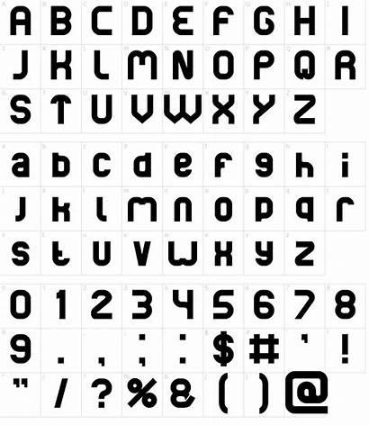 Basic Font Fonts Character Characters