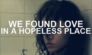 we found love in a hopless place on Tumblr