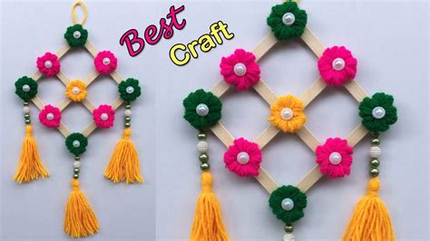 wall hanging craft ideas easy  waste material simple