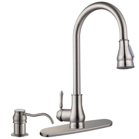 kitchen sink and faucet 18 quot pull kitchen sink faucet with soap dispenser ebay