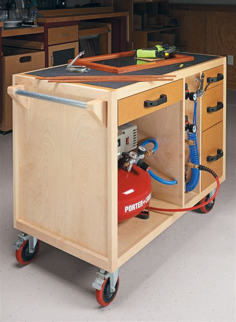 mobile air tool station woodworking project woodsmith
