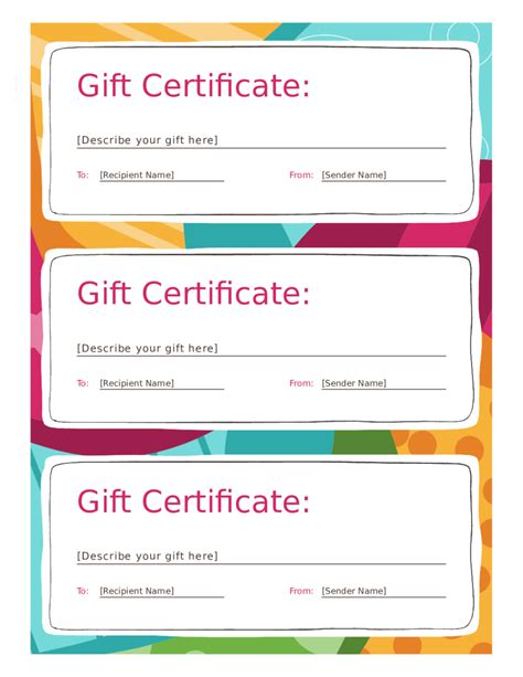 gift certificate template free printable 2018 gift certificate form fillable printable pdf forms handypdf