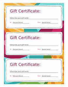 2018 Gift Certificate Form - Fillable, Printable PDF ...