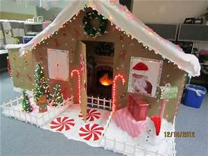 Work Cubicle Gingerbread House