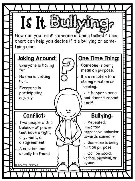bullying activities plays and poster set bullying