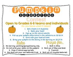 Pumpkin Decorating Contest Rules how to plan a pumpkin decorating contest everyone