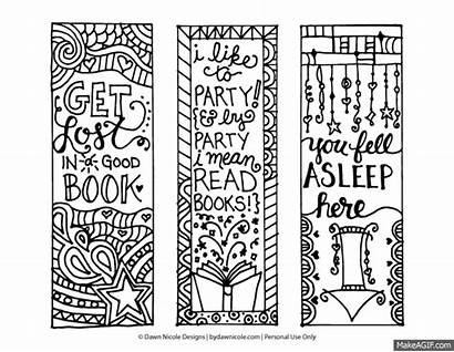Coloring Printable Bookmarks Dawn Nicole Designs Bydawnnicole