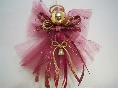 Heavenly and Etherial Burgandy Tulle Angel Christmas