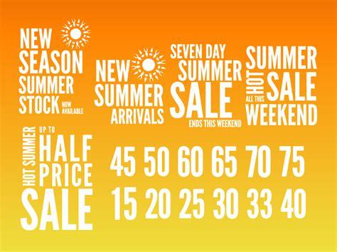 Summer Sales Graphics Vector Art & Graphics Freevectorcom