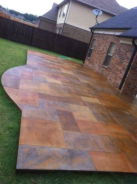 best 25 concrete patio stain ideas on acid
