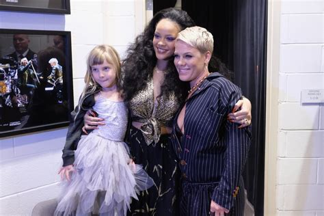 Rihanna And Pink's Daughter Willow At The 2018 Grammys