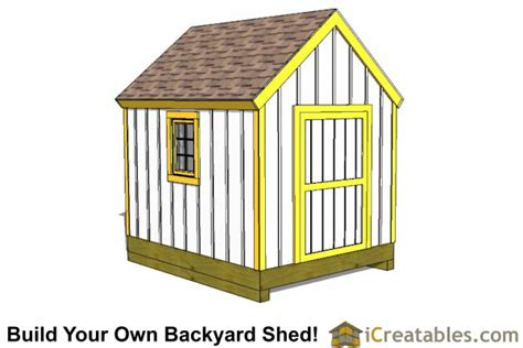 Shed Designs 8 X 10 by 8x10 Shed Plans Diy Storage Shed Plans Building A Shed
