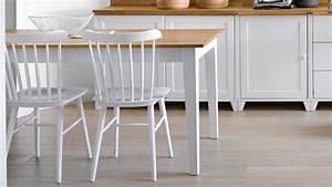 Table De Cuisine Blanche : table cuisine blanche table de cuisine avec rallonge maisonjoffrois ~ Teatrodelosmanantiales.com Idées de Décoration