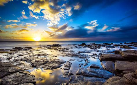 usa  background images nature ocean sun hdr