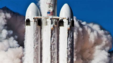 spacexs  falcon heavy launch  feature record