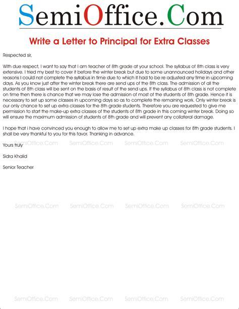 write request letter principal