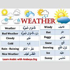 Weather  Arabic Words  Pinterest  Weather, Learning Arabic And Language