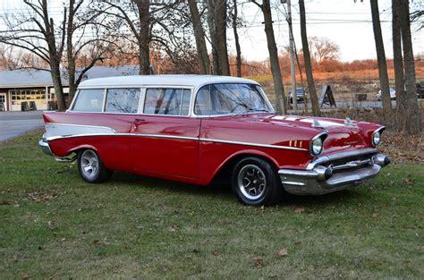 1957 Chevy 210 2 Dr Handyman Station Wagon 350 Auto Disk