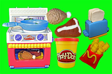 play doh cuisine play doh meal makin 39 kitchen play dough food oven play doh mcdonalds fries disneycartoys