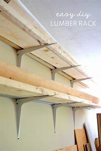 Cheap and Easy DIY Lumber Rack • The Ugly Duckling House