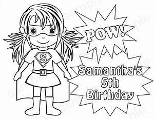 Coloring, Clipart, For, Girl, Superheros