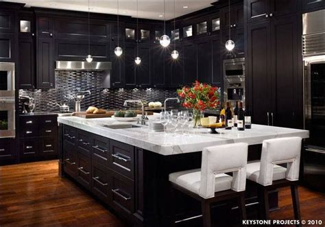 Beautiful Dark Kitchen.