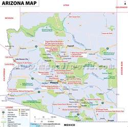 Arizona State Map with Cities