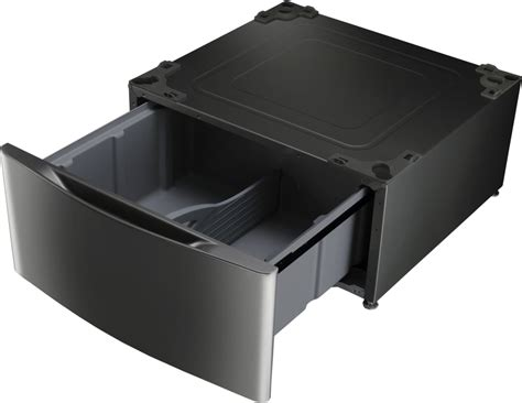 lg pedestal wdp4w lg wdp4k pedestal with drawer black stainless steel