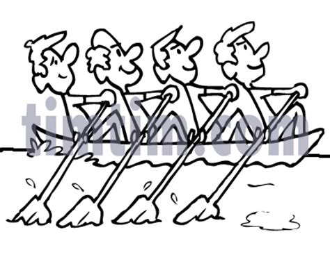 How To Draw A Boat Race by Free Drawing Of Rowboat Bw4 From The Category Boat Sail