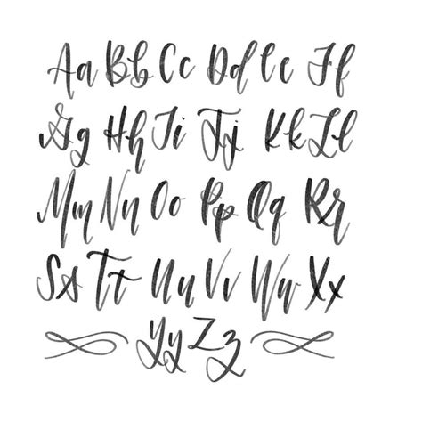 modern calligraphy alphabet calligraphy alphabet
