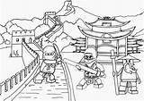 Temple Chinese Drawing Coloring Pages Printable Getdrawings sketch template