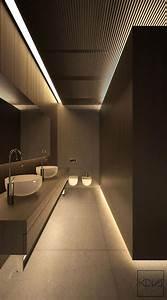 Eclairage Moderne : 3 int rieurs minimalistes et monochromatiques avec un clairage moderne toilet interiors and bath ~ Farleysfitness.com Idées de Décoration