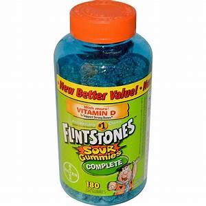 Flintstones, Sour Gummies Complete, Children Multivitamin ...