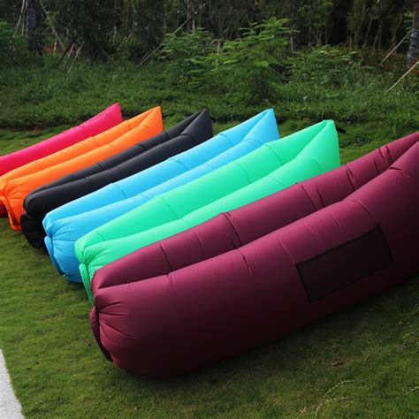 It's waterproof, making it great for outdoor use as well. Outdoor Convenient Inflatable Lounger Sofa Convenient Beach Couch Portable Chair Air Sleeping ...