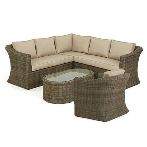 Maze Rattan Corner Sofa Set by Maze Rattan Winchester Small Corner Sofa Set With Chair