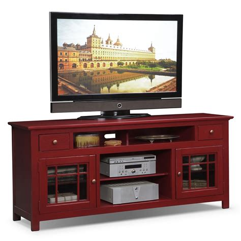 furniture tv stands merrick 74 quot tv stand red value city furniture