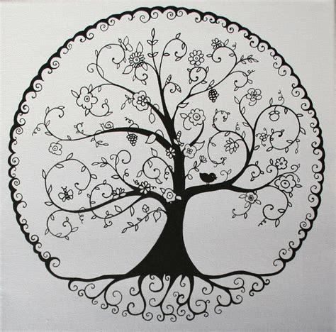 arbre de vie nb forestier arbre de vie tatouage