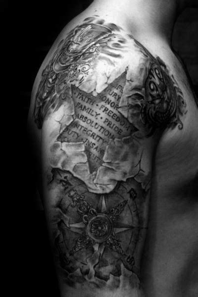 40 3D Star Tattoo Designs For Men - Cool Ink Ideas