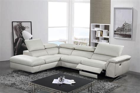 Divani Casa Maine Modern Light Grey Eco-leather Sectional