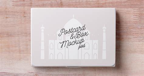 psd postcard box mockup psd mock  templates pixeden