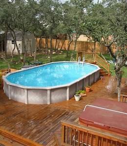 Terrasse bois piscine semi enterree elegant good terrasse for Amazing piscine en bois semi enterree pas cher 0 nivrem terrasse bois piscine semi enterree