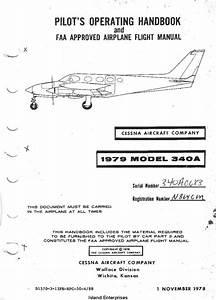Cessna Model 340a Pilot U0026 39 S Operating Handbook Pdf