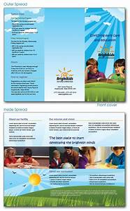 Free indesign templates daycare preschool and health for Nursery brochure templates free
