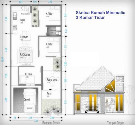 desain rumah minimalis beserta ukurannya desain rumah